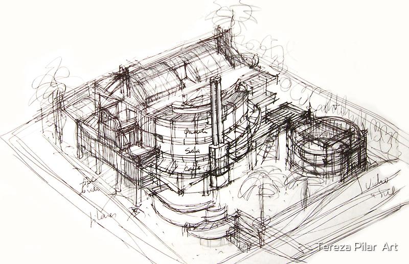 House sketch by terezadelpilar~ art & architecture