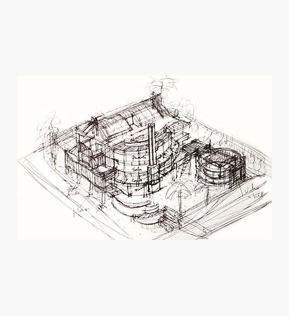 House sketch Photographic Print