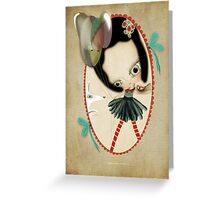 Once upon a time a doll Greeting Card