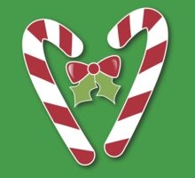 CANDY CANES with bow and cute holly Christmas Kids Clothes