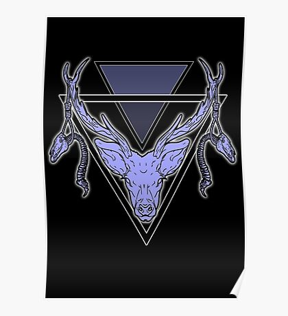 Triangle Deer H Poster
