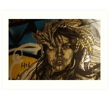 Swoon in Hosier Lane Art Print