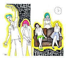 Sketch 15 ... game time Photographic Print