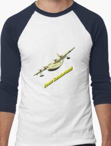 Short Sunderland Flying Boat Men's Baseball ¾ T-Shirt