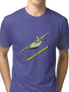 Short Sunderland Flying Boat Tri-blend T-Shirt