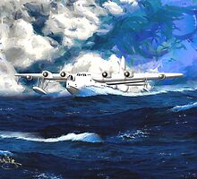 Short Sunderland Flying Boat by Dennis Melling