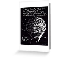 """Richard Buckminster Fuller"" Greeting Card"