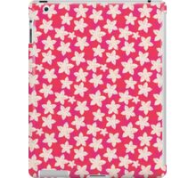 Cute pink white watercolor vintage floral pattern  iPad Case/Skin