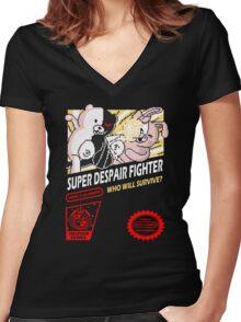 Super Despair Fighter Women's Fitted V-Neck T-Shirt