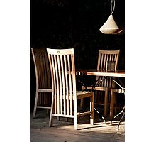 Long Back Chairs Photographic Print