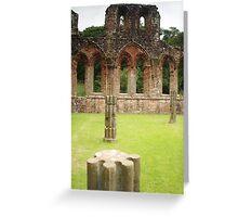 Pillars at Furness Abbey Greeting Card
