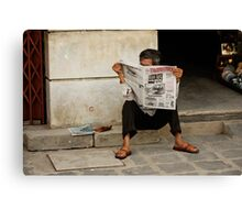 Today's News Canvas Print