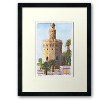 Torre Del Oro, Sevilla, Spain Framed Print