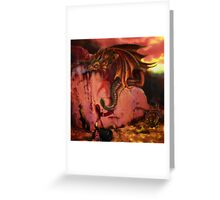 dragons offer Greeting Card