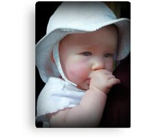 In Daddy's Loving Arms ~ Loved Canvas Print