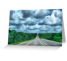 A Cloudy Drive Greeting Card