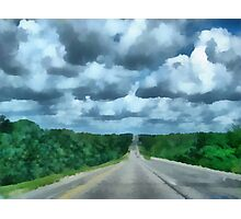 A Cloudy Drive Photographic Print
