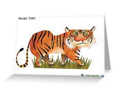 Bengal Tiger caricature Greeting Card
