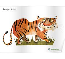 Bengal Tiger caricature Poster