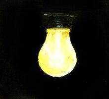 Light Bulb Photo Realistic Painting by Masaad Amoodi