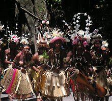 Papua New Guinea Dancing 1 by Ian McKenzie