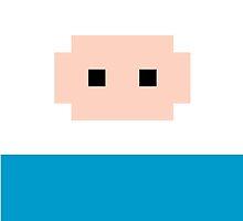 Adventure Time 8-bit Sprite Finn's Face by d13design