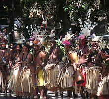 Papua New Guinea Dancing 2 by Ian McKenzie