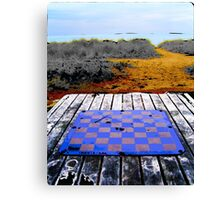 Checkers on the Beach - Chicago, IL Canvas Print