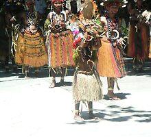 Papua New Guinea Dancing 4 by Ian McKenzie