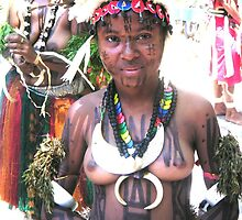 Papua New Guinea Dancing 5 by Ian McKenzie