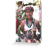 Papua New Guinea Dancing 5 Greeting Card