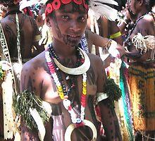 Papua New Guinea Dancing 6 by Ian McKenzie