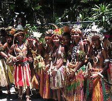 Papua New Guinea Dancing 9 by Ian McKenzie