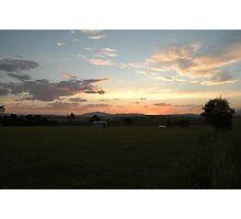 Beaudesert sunset Photographic Print