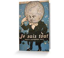 Jules Alexandre Grün Je Sais Tout 2 Greeting Card