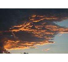 Stormy sunset 2 Photographic Print