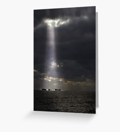 Let The Light Shine Down  Greeting Card