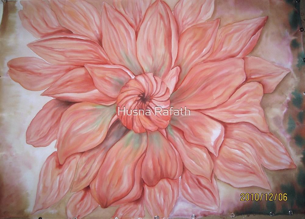 More peach dahlias by Husna Rafath