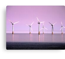 Reflection on Windpower - Skegness Canvas Print