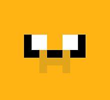 Adventure Time 8-bit Sprite Jake's Face by d13design