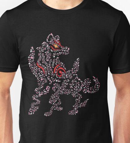 Okami Amaterasu - Cherry Blossom Form [BLACK] Unisex T-Shirt