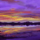 Sunset on the Coquet River Weir by Genevieve  Cseh