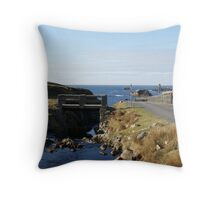 Port from the bridge Throw Pillow