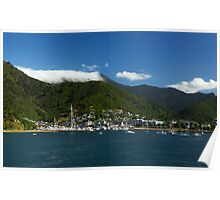Picton Harbour New Zealand Poster