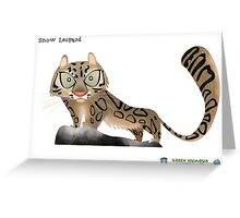 Snow Leopard Caricature Greeting Card