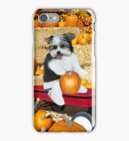 I Can Just Taste This Pumpkin Now..( CUTE-CANINE IN WAGON WITH PUMPKINS..) - PILLOW-TOTE BAG-JOURNAL-BOOKS-ECT.. iPhone Case/Skin