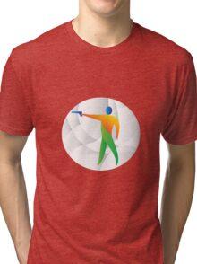 Air Pistol Shooting Circle Retro Tri-blend T-Shirt