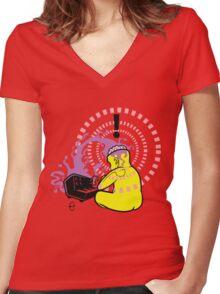 Korg Head Women's Fitted V-Neck T-Shirt