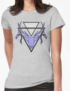 Triangle Deer H 2 Womens Fitted T-Shirt