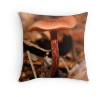 Red Mushroom Throw Pillow